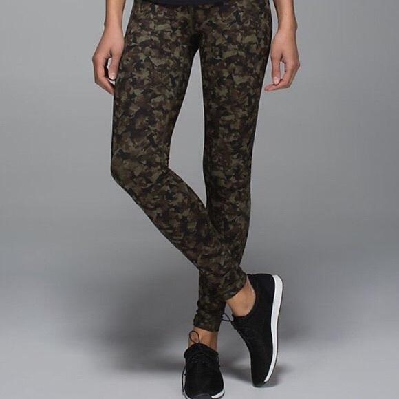 Lululemon Athletica Pants Jumpsuits Lululemon Camouflage Wunder Under Camo Leggings Poshmark