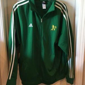 Unisex adidas Oakland athletics track jacket