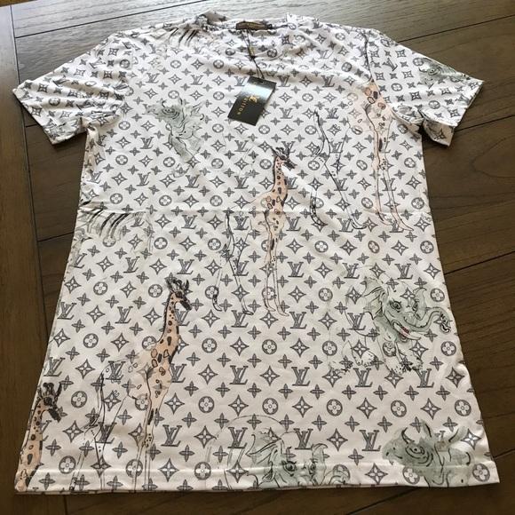 17f0552b Louis Vuitton Shirts | Lv Animal Tee | Poshmark