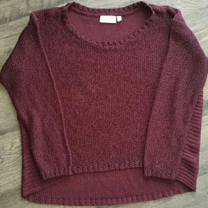 RD Style Burgundy Hi-Low Sweater