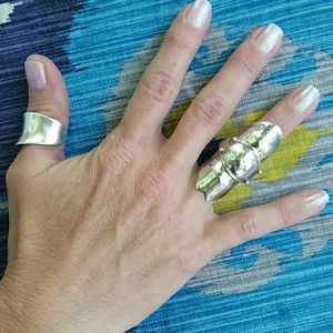Sterling knuckle armor ring