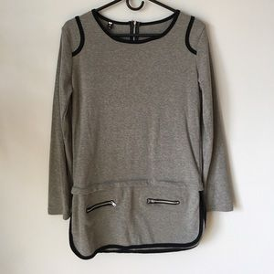Tops - SOLD* Grey long sleeve casual top