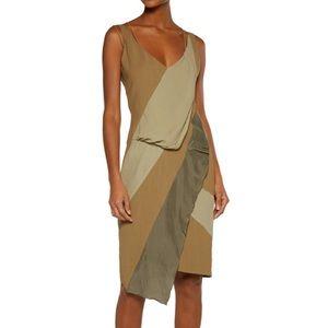 belstaff Dresses & Skirts - BELSTAFF asymmetric silk/ satin trim dress sz 42