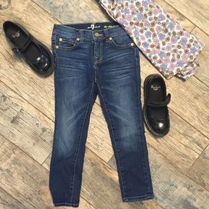 7 For All Mankind Other - Girls 7 for all Mankind Slim Crop Dark Wash Jeans