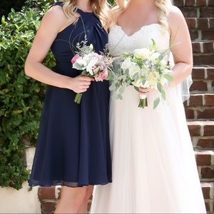 Navy Blue (Marine) Davids Bridal Bridesmaids Dress