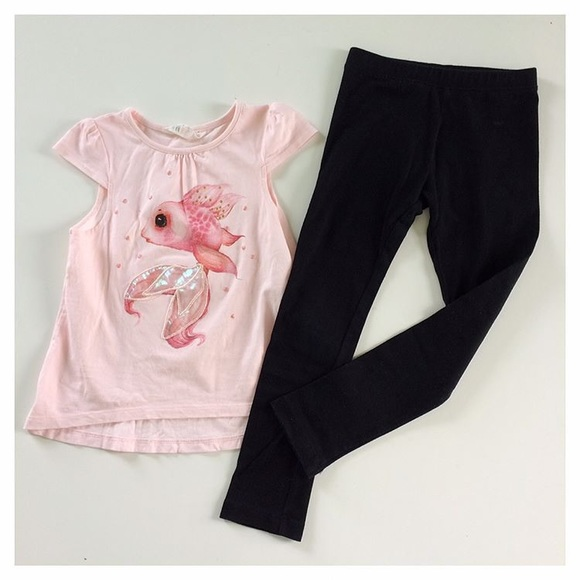 24dd4468eb8a68 H&M Matching Sets | Hm Top And Old Navy Leggings | Poshmark