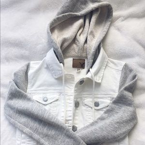 American Eagle Outfitters Jackets & Blazers - NEW White Denim Jacket