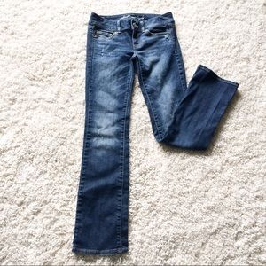 AE American Eagle Slim Bootcut distressed Jeans