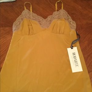 Rodarte Tops - Rodarte Lace camisole XS New tags. Mustard color