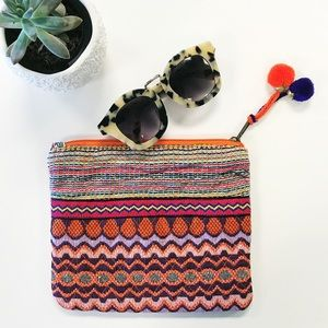 Boutique Handbags - Embroidered Makeup Pouch