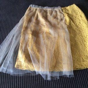 Rodarte Dresses & Skirts - Rodarte Lace tulle Mustard skirt Size 1 New tags