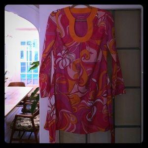 Trina Turk for Banana Republic silk tunic dress