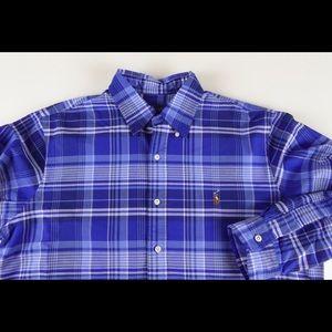 Polo Ralph Lauren LS Oxford Shirt w Pony NWT Blue