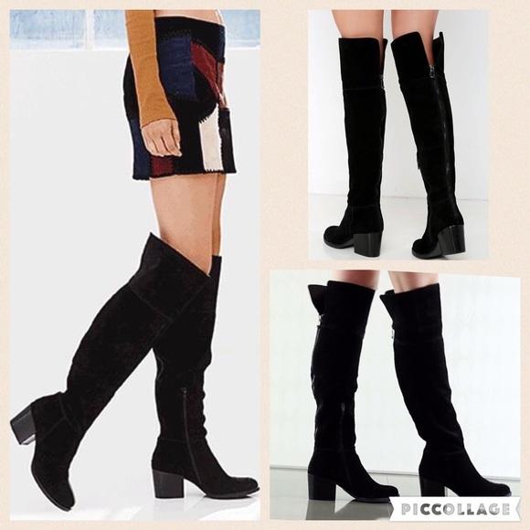 cff77d05393 NIB Steve Madden Orabela Knee high blacksuede boot