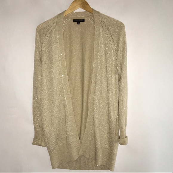 5cf0ba8ca3c5 Banana Republic Sweaters - Banana Republic – Sequin Gold Cardigan