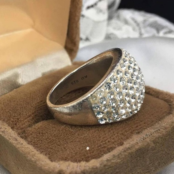 Vintage Silver Chanel Ring Dome