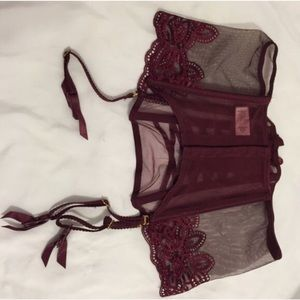 3f36e4cdf44 Victoria s Secret Intimates   Sleepwear - Red wine garter belt corset  Victoria s ...
