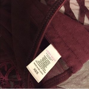 3f36e4cdf44 Victoria s Secret Intimates   Sleepwear - Red wine garter belt corset  Victoria s ...