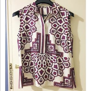 Derek Lam Tops - Derek Lam paisley silk sleeveless collar blouse 12