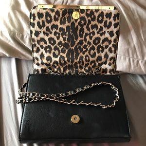 Mossimo Black Handbags - Satchel w gold chain