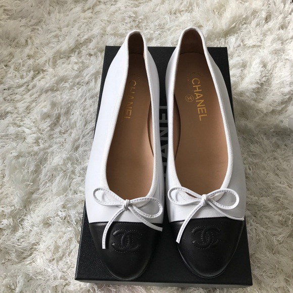40 chanel shoes authentic chanel flats black and