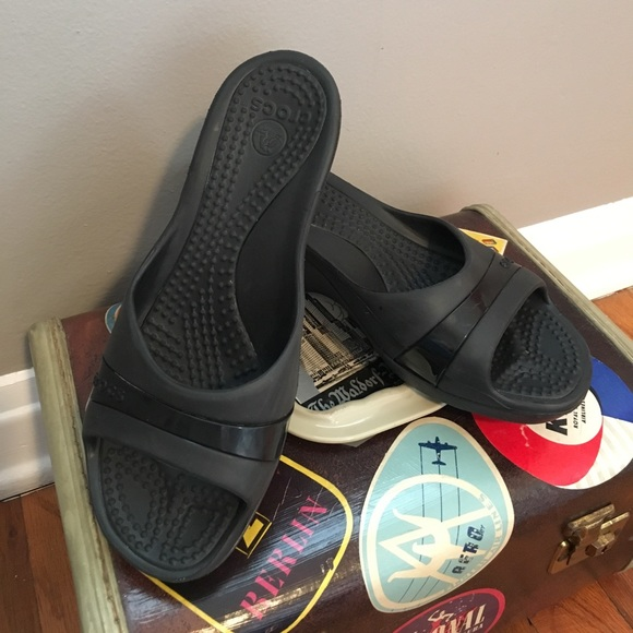 4071bd1f8099d CROCS Shoes | Wedge Sandals Waterproof Height Boosters | Poshmark