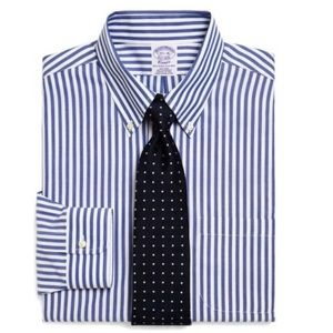 Brooks Brothers Other - Brooks Brothers - Blue Striped Non-Iron Shirt