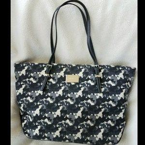 Nine West Handbags - Nine West Tote Camo gray black canvas bag