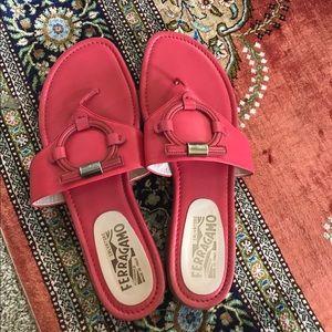 Salvatore Ferragamo Coral Pink Sandals size 8
