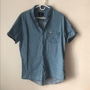 Zara denim button tee shirt
