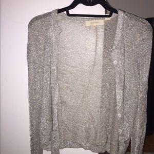 Inhabit cardigan sz medium silver sparkly