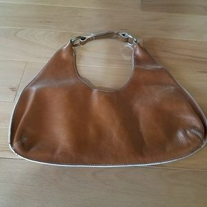 Banana Republic cognac colored hobo style bag