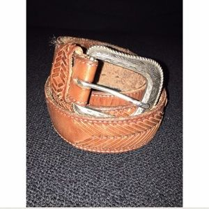 Men's Vintage Wrangle Brown Leather Belt