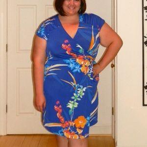Alfani floral wrap dress size 3x