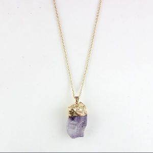 Jewelry - Gold Plated Amethyst Pendant