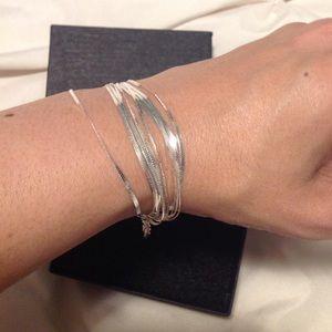 Jewelry - Multi chain 925 Silver Bracelet