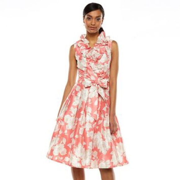 f6c59d94a269 Jessica Howard Dresses & Skirts - Jessica Howard Floral Taffeta Fit and  Flare Dress