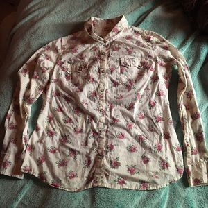 Mossimo Supply Co. Tops - 🌺Vintage floral button-down blouse