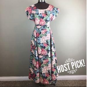Vintage Dresses & Skirts - Vintage Floral A-Line Dress