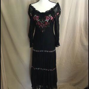 "Sue Wong Dresses & Skirts - ""Sue Wong"" Stunning & Delicate Silk Peasant Dress"