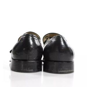 Shoes - JOHNSTON AND MURPHY  SILVER  BUCKLE  LOAFERS SZ 9