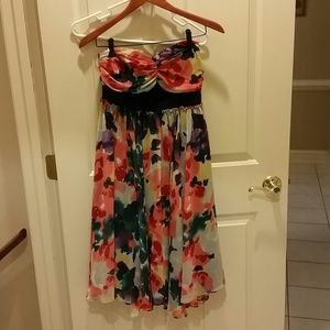 Limited multi colored floral dress