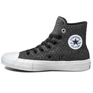 Converse chuck taylors hightop mesh gray sneakers