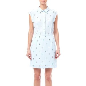 FRNCH Powder Blue Vintage Inspired Dress