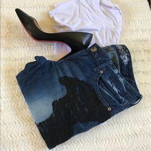 Express Denim - T1 Express jeans with lace appliqué