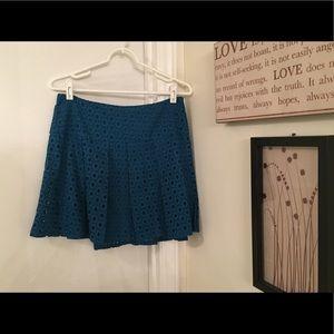 ⚡️FLASH SALE⚡️Pim + Larkin sz M Teal Crochet Skirt