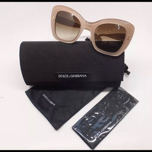 Dolce & Gabbana Accessories - DOLCE AND GABBANA PEARL BEIGE SUNGLASSES