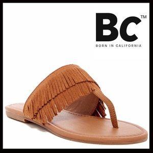 BC Footwear Shoes - ❗️1-HOUR SALE❗️SUEDE FLATS FRINGE SANDALS