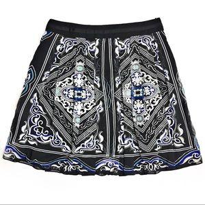 White House Black Market Sunken Print Skirt
