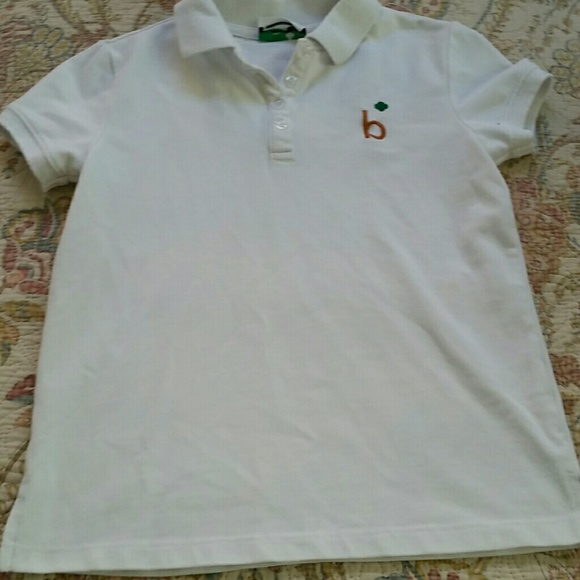 Ro Girls Short Sleeve Uniform Polo Shirt White Size 5 Scout NWT
